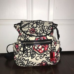 Coach Poppy Floral Graffiti Drawstring Backpack